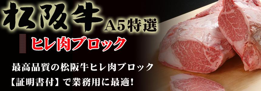 松阪牛A5 シャトーブリアン ブロック