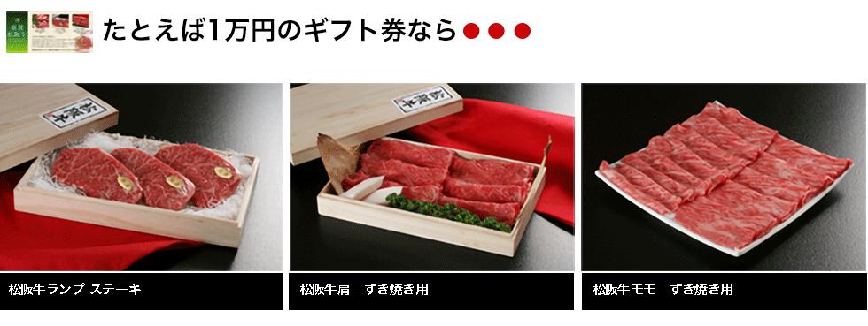 例えば1万円ギフト券