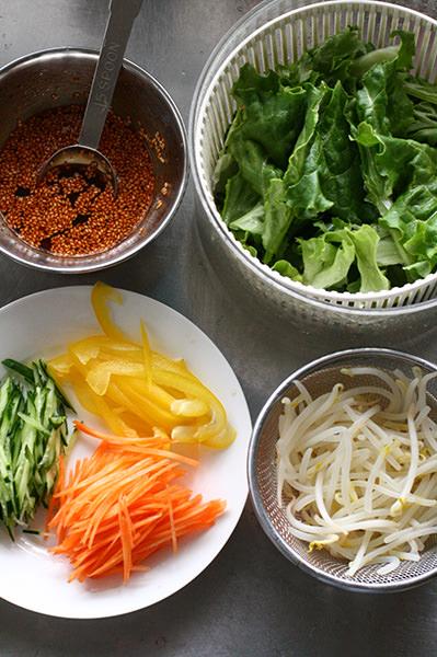 韓国風ハンバーグサラダ