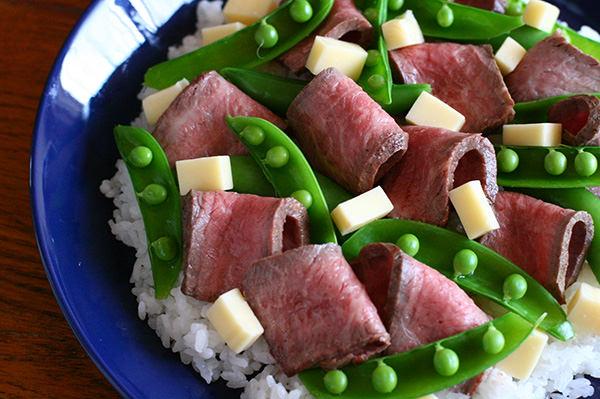 ローストビーフの洋風ちらし寿司