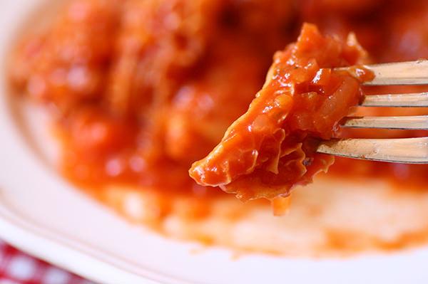 トリッパとチョリソーのトマト煮込み
