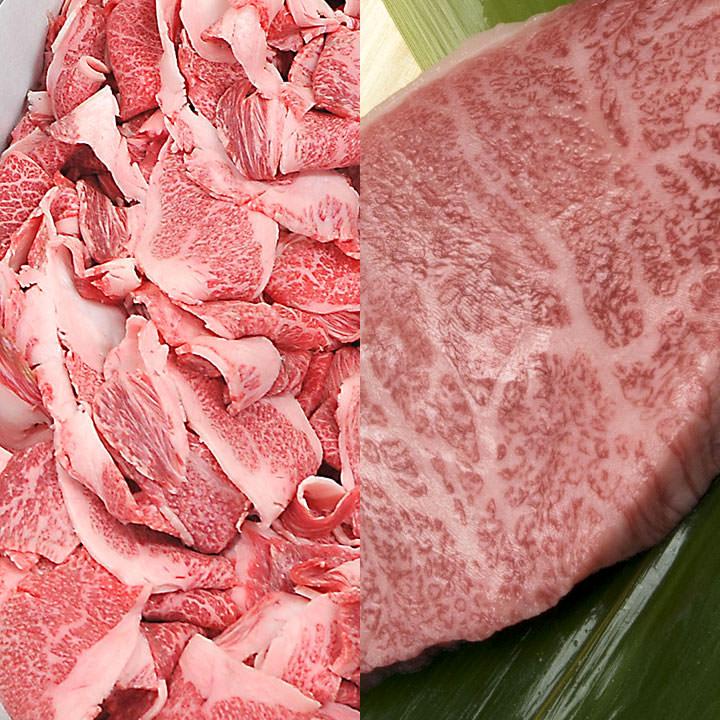 松阪牛すき焼き&ステーキセット