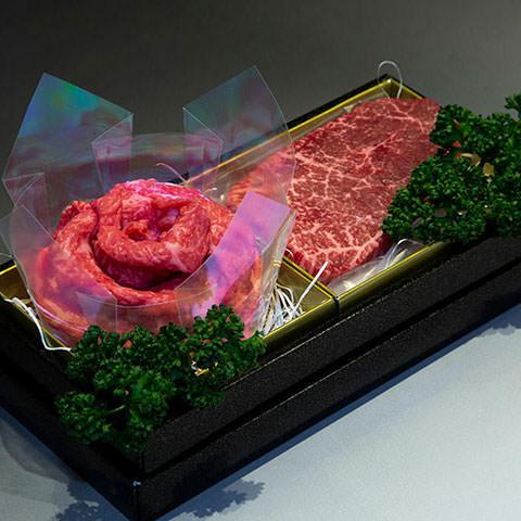 花の松阪牛すき焼きステーキ